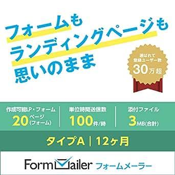 フォームメーラー Business タイプA【LP(フォーム)作成数:20ページ(個)/月】12ヶ月 オンラインコード版