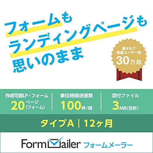 フォームメーラー Business タイプA【LP(フォーム)作成数:20ページ(個)/月】12ヶ月|オンラインコード版