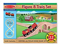 Melissa & Doug Classic Wooden Figure Eight Train Set [並行輸入品]