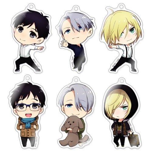 きゃらふぉるむ ユーリ!!! on ICE アクリルストラップコレクション BOX商品 1BOX = 6個入り、全6種類