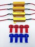 《Z-123-04》◆ 4個セット 抵抗器(12V 50W 8Ω) LED ウィンカー ハイフラ防止 エレクトロタップ8個付き◆