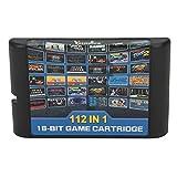 online(オンライン)112 in 1 ゲームカード ゲームソフト ゲームカセット for セガ ジェネシスゲーム カートリッジ 内蔵112ゲーム クラシック 人気 ゲーム
