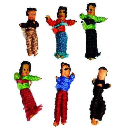 【国内Free】 トラブルドールウォーリードール お守り 護符 おまじない しんぱいひきうけにんぎょう, びくびくビリー,アンソニー・ブラウン悩み解決Worry Dolls 袋タイプtroubledollbag(ASおまじないスピリチュアル神社)インドグアテマラ開運