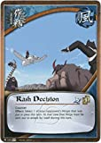 Naruto Card - Rash Decision 745 - Tales of the Gallant Sage - Uncommon - 1st Edition