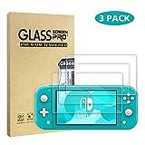 WD&CD【3枚】 Nintendo Switch Lite ガラスフィルム ニンテンドースイッチライト 9H硬度 強化ガラス 液晶保護フィルム 気泡ゼロ 指紋防止 高透過率 疎水性 簡単貼り付け