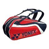 ヨネックス(YONEX) ラケットバッグ6(リュック付) テニス6本用 BAG1812R 097 ネイビー/レッド