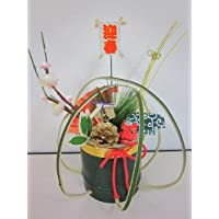正月飾り 置き飾り(獅子舞)縁起の良い獅子舞と松ぼっくりが新春を感じさせる素敵なデザインです。