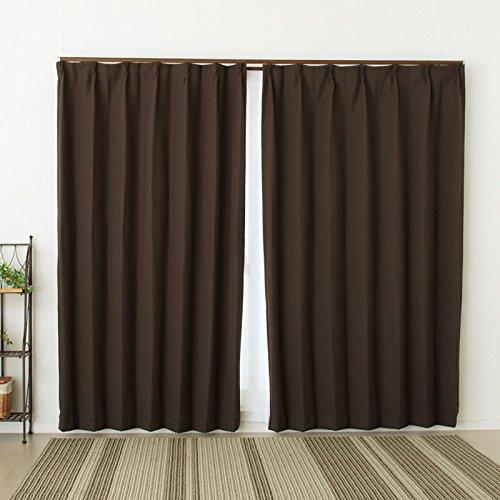 1級遮光カーテン8818BR-A 2重織りざっくり生地断熱 巾100x高178cm2枚組 100×178