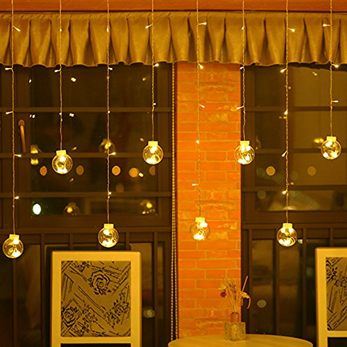 V-Dank イルミネーション ライト led 電池 装飾 電飾 ライト ストリング カーテン ライト ボール フェアリーライト 8モード ストレート クリスマス 祭り 飾り 高輝度 デコレーション 部屋 パーティー ハロウィン 電球 雰囲気
