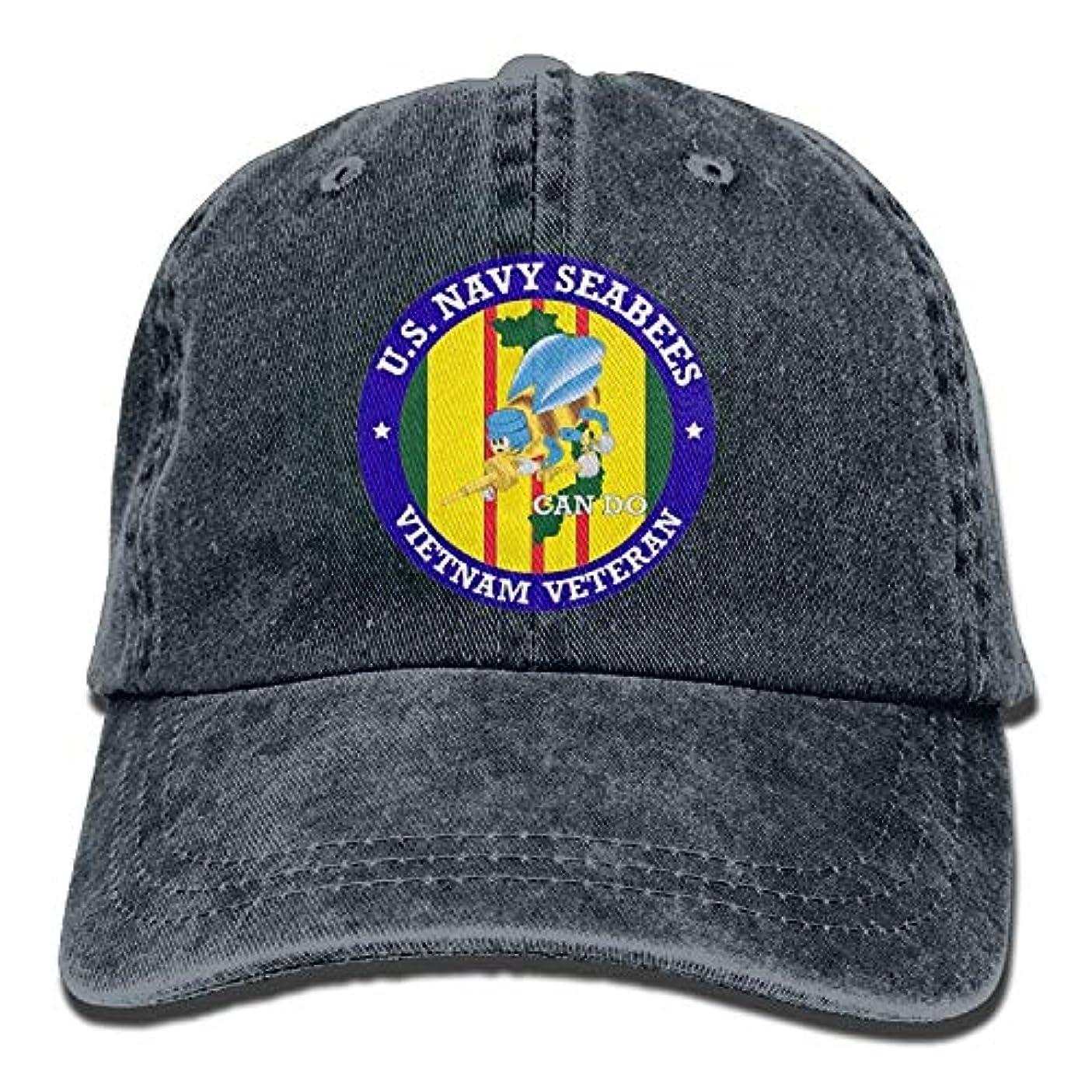 ピアノ集中チャットドアマット ビキニ 米国 ネイビー シービー ベトナム 退役軍人 調節可能 野球帽 デニムハット カウボーイ スポーツ アウトドア