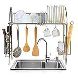 1208S シンク上 水切りラック 食器 水切りかご キッチン収納 ステンレス製