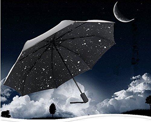 uvistar 折り畳み傘 ワンタッチ自動開閉 撥水加工 耐強風  晴雨兼用 UVカット 収納ケース付 8本骨 107cm