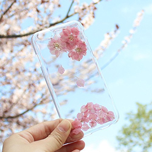 TopYart iPhone 6/ 6s 用 スマホケース TPUケース 薄型 衝撃吸収 軽量傷防止 ソフト 干し花 桜