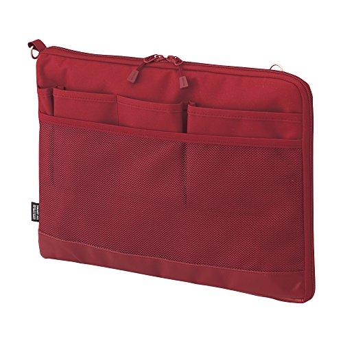 リヒトラブ バッグインバッグ スマートフィット アクタクト A4ヨコ レッド A7681-3