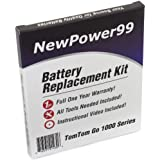 NewPower99 Tomtom Go 1000 Battery Replacement Kit with Installation Video, Tools, and Extended Life Battery.