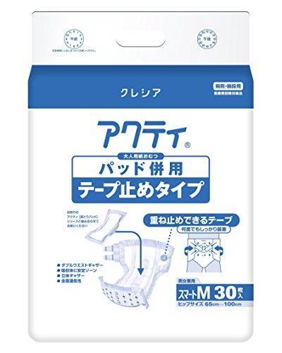 日本製紙クレシア アクティ パッド併用テープ止めタイプスマートM 84338 1箱 30枚X3パック