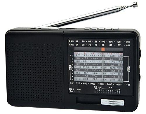 XHDATA D-328 FM・中波・短波ポータブルラジオ マイクロSDカード MP3プレイヤー