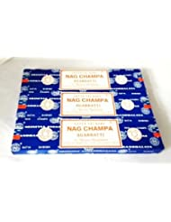 Satya Nag Champa Incense Sticks 40 Gram 3 Pack by Satya [並行輸入品]