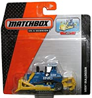 Matchbox 2014 On a Mission: Yellow/Blue Mbx Bulldozer - Has Real Working Parts