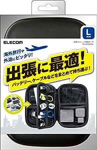 ELECOM 汎用ガジェット収納ポーチ Lサイズ ブラック TB-02GPBK