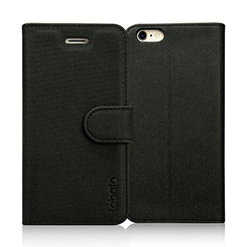 Labato iphone6s ケース iphone6 ケース 手帳型 アイフォン6s アイフォン6 ケース 軽量 手帳 人気 PUレザー カード収納 スタンド マグネット式 スマホケース (ブラック lbt-I6S-08D10)