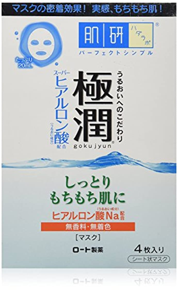 花に水をやるきゅうり大工肌研(ハダラボ) 極潤 ヒアルロンマスク 20mL×4枚