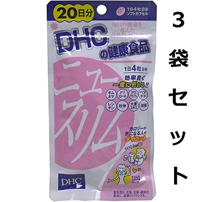 ロードハウスシャワー子猫スリムなカラダをキープ DHC ニュースリム ダイエット 20日分 80粒 3袋セット