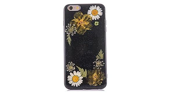 029bf07d67 Amazon | iphone6ケース iphone6sカバー[TIPFLY] 黒ベース 押し花 フラワー TPUソフト ケース ドライフラワー  スキン 黒白菊 [並行輸入品] | ケース・カバー 通販