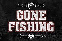 Gone FishingバーSign 2 Sign Pack S873-ICP-2Pack