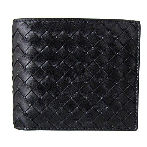 ボッテガ ヴェネタ 財布 BOTTEGA VENETA メンズ二つ折財布 ブラック 113993 V4651 1000 【並行輸入品】