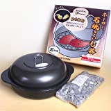 IH対応・ホーロー 石焼き芋鍋(天然石付き)24cm