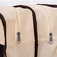 GRALARA不織布+ PVC  ロング ブーツ 収納バッグ ポータブル 旅行 ホーム 靴 収納
