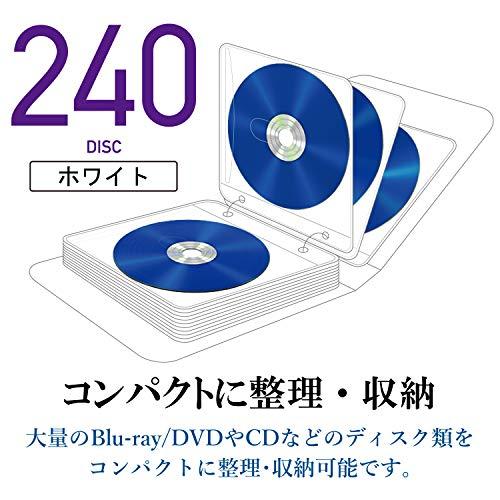 『エレコム DVD CDケース 不織布 両面収納 2穴付 120枚入 240枚収納可 ホワイト CCD-NBWB240WH』の2枚目の画像