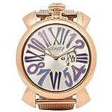 (ガガミラノ) GAGA MILANO ガガミラノ 時計 メンズ/レディース GAGA MILANO 5081.3 PGS SLIM スリム 46MM ユニセックス腕時計 ウォッチ シルバー/ピンクゴールド [並行輸入品]