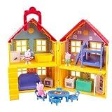 ペッパピッグ プレイハウス セット 人形付き Peppa Pig Peppa's Deluxe House Play Set with 3 Figures [並行輸入品]