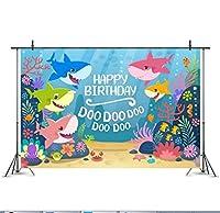 子供の誕生日漫画サメの写真素材写真撮影の背景布の小道具,A
