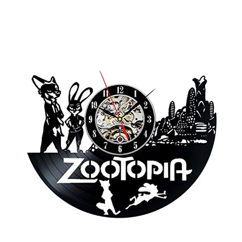 Zootopia Wall Art Vinyl Record Clock Home Decor - Win a prize for feedback