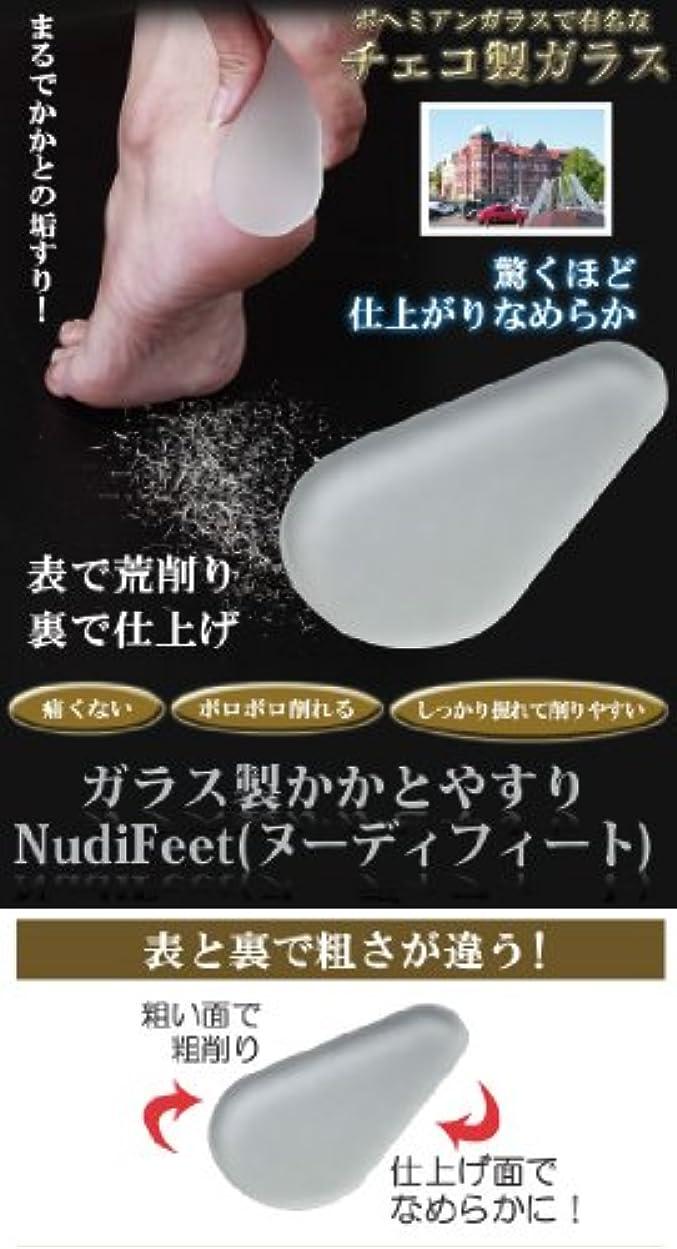 つづりはっきりと純粋にガラス製かかとやすり NudiFeet