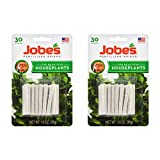 Jobe's Fertilizer Spikes for Houseplants, 30-Count Pack, Two Packs (60 Spikes)