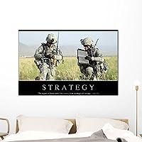 """戦略インスピレーション引用と壁壁画by Wallmonkeys Peel and Stickグラフィックwm96384 48""""W x 32""""H - Extra Large STK-15028-48"""