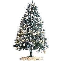 タンスのゲン クリスマスツリー 180cm 雪化粧 オーナメントセット イルミネーションライト付き 16900021 10AM 【64535】