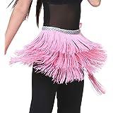 Fascigirl Lady Waist Chain 3 Layer Tassels Belly Dance Waist Chain Hip Wrap Scarf