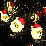 AYY  イルミネーションライト クリスマス飾り LEDストリングライト 10個 LED電球  全長1.5メートル  パーティー?イベントに装飾用提灯 屋外発光モード