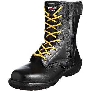 [ミドリ安全]静電安全靴 JIS規格 長編上靴 ラバーテック RT730F オールハトメ 静電 ブラック25.0(25cm)