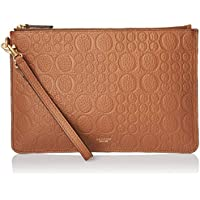 Oroton Women's Signet Med Pouch, Cognac Emboss, One Size