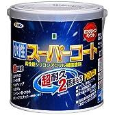 アサヒペン ペンキ 水性スーパーコート 水性多用途 赤 0.7L