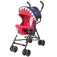 赤ちゃんのベビーカーの折りたたみ可能な背もたれは、軽い旅行が嘘の傘のベビーカーのベビーカーシンプルなベビーカーに座って運ぶことができる調整することができます46-63 * 94センチメートル (色 : 青)