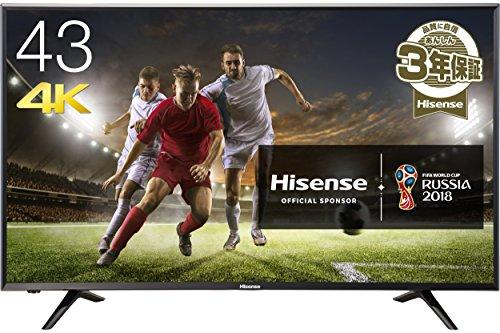 ハイセンス 43V型 4K対応 液晶テレビ 外付けHDD裏番組録画対応 メーカー3年保証 HJ43N...