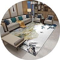 ラグ・カーペット カーペット中国のリビングルームカーペット家庭用長方形のカーペットの家の装飾リビングルームのソファコーヒーテーブルカーペット寝室カーペット滑り止め快適なイージーケア (Color : A, Size : 180cmx260cm)