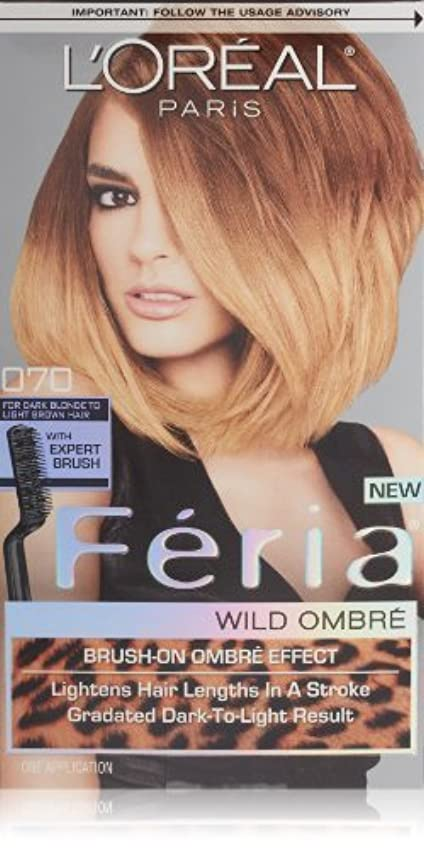 常習的に慣れ逆にL'Oreal Feria Wild Ombre Hair Color, O70 Dark Blonde to Light Brown by L'Oreal Paris Hair Color [並行輸入品]